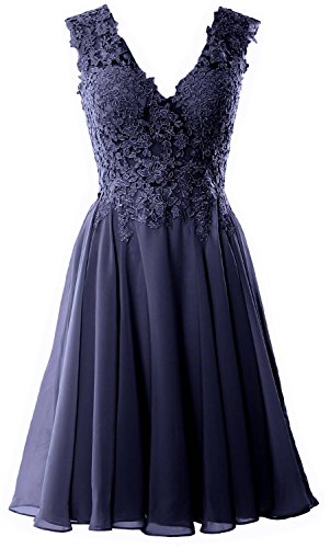 premium selection bc0f1 4b858 Macloth Lace Navy V Formal Dark Women Dress Prom Short Homecoming Neck  Wedding Gown Party 5gqgwO0rx