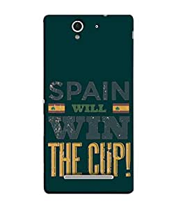 ColorKing Football Spain 05 Green shell case cover for Sony Xperia C3