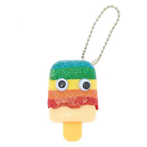 Claire's Glitter Rainbow Pucker Pops Lip Gloss - MANGO