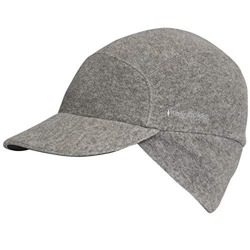 TrailHeads Fleece Ponytail Cap with Drop Down Ear Warmer | The Trailblazer Adventure Hat for Women (Heather Grey) ()