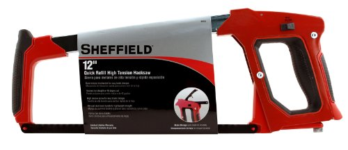(Sheffield 58251 12 Inch Quick Refill High Tension Hacksaw)