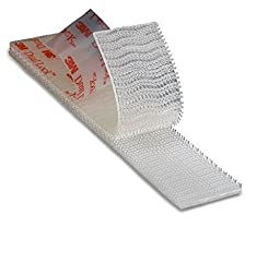 Dual Lock Replacement E-ZPass Mounting Strips, Clear, .5 Inch x 1 Ft Roll - Cut Down to Your Preferred Size