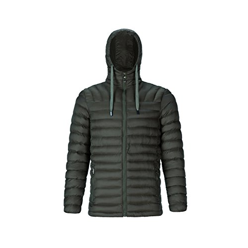 Jacket size Long Overcoat Green Sleeve Warm Cotton Down XXXL Outdoor Coat Large Quilted Men Bmeigo Zipped Hooded Padded Hqfw4taw
