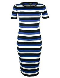 Lauren Ralph Lauren Womens Sellia Striped Short Sleeves T-Shirt Dress