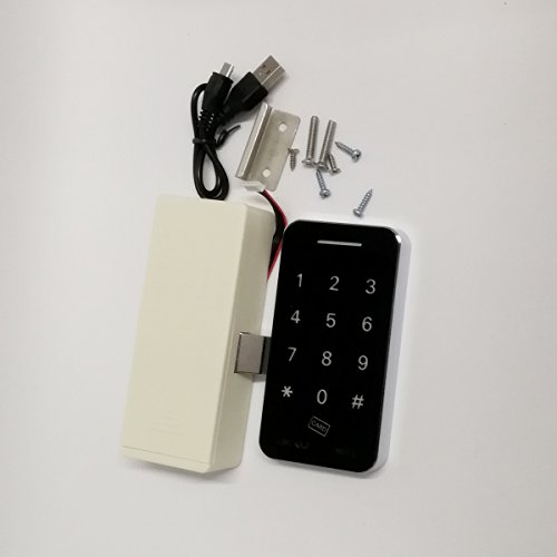 Touch Keypad Electronic Cabinet Lock with RFID Keys & 5V DC Power Port Backup by BestgoBest (Image #1)