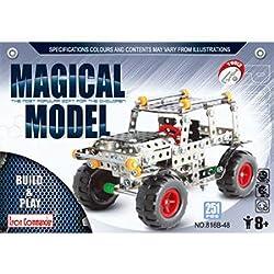 IRON COMMANDER Model Car Kits to Build Metal Erector Sets Boys Model Cars Adults Model Car Off-Road Erector Set by ShunJi