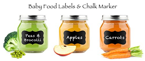 Baby Food Waterproof Labels-64 Chalk Pen Chalkboard Vinyl Labels (Standard 2