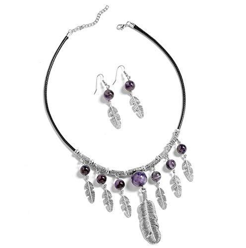 Florance jones Girls Mix Metal Round, Beads Earrings Necklace 18 Set   Model NCKLCS - 11990 ()