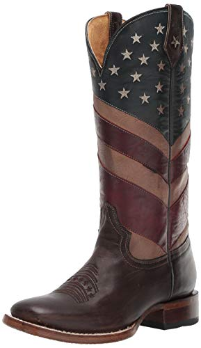 ROPER Women's Old Glory Western Boot Brown, 7 D - Women Boots Roper