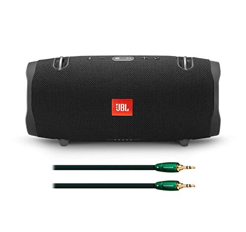 JBL Xtreme 2 Portable Bluetooth Waterproof Speaker Bundle with AudioQuest Evergreen 3.5mm to 3.5mm Analog Audio Cable - (1.5m) Black