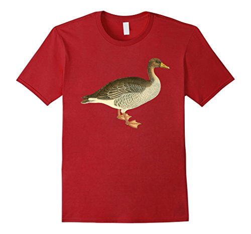 Mens Goose T-shirt Cute Vintage Goose Graphic Tee Large C...