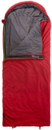Outwell Campion Lux Single Rectangular Sleeping Bag 3 Season Camping | Red