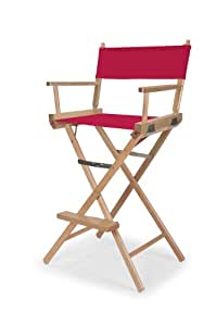 Telescope Casual Heritage Bar Height Director Chair, Red with Varnish Frame
