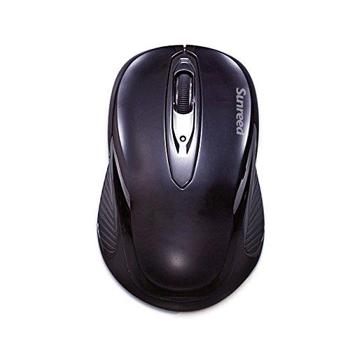 Sunreed,2-IN-1 (Upgrade Version) Wireless Numeric Keypad &Optical Mouse Combos 2.4G Mini USB 19 Keys Pad Numeric Keypad for Laptop Desktop PC Notebook (Black) by Sunreed (Image #3)