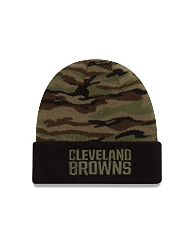 NFL Cleveland Browns Print Play Knit Beanie, One Size, Woodland Camo