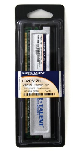 Super Talent DDR400 512MB/64X8 CL3 8CH Memory (PC and MAC G5) D32PA12H by Super Talent (Image #6)