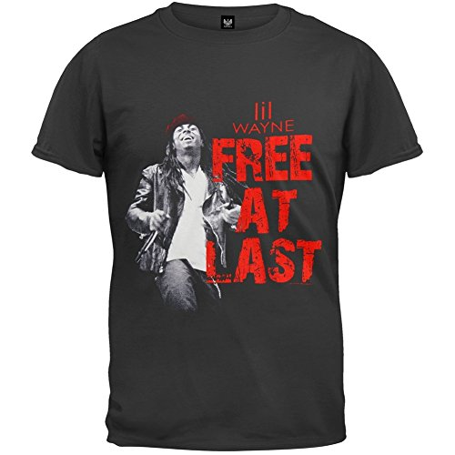 Old Glory Lil Wayne - Free at Last T-Shirt - Large Black