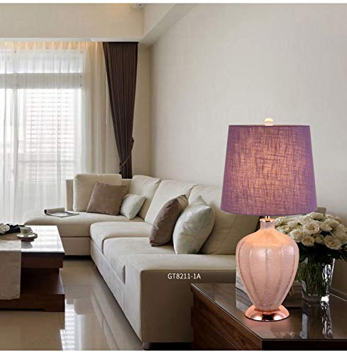 JINSH Home Elegante Glasbeschaffenheit Wohnzimmer Schlafzimmer Studie Hotel Tuch Tuch Tuch Kunst Tischlampe (Farbe   Beige) B07JMJDDYR   Reichhaltiges Design  cee3d7