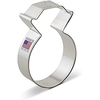 Amazon.com: Ann Clark Diamond Ring Cookie Cutter - 3.75 Inches ...
