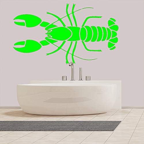 Ajcwhml Etiqueta de la Pared del baño Marine Life Lobster Pegatinas de Pared clásicas decoración del hogar Arte Pegatina Mural 42X72cm: Amazon.es: Hogar