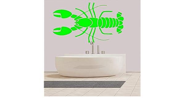 Ajcwhml Etiqueta de la Pared del baño Marine Life Lobster ...