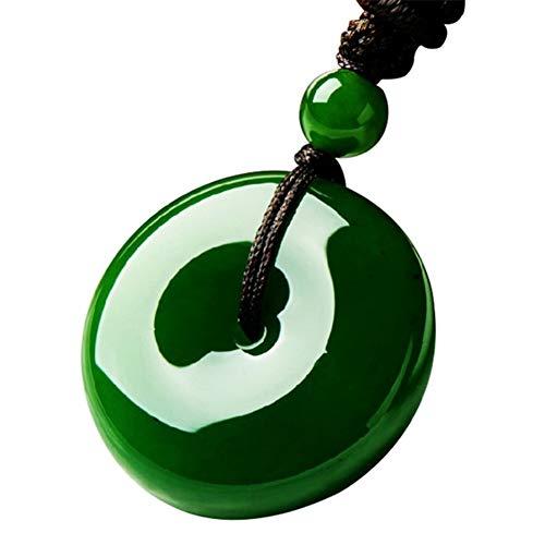 heaven2017 Chinese Artificial Green Jade Necklace Choker for Women