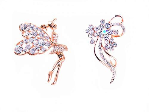 GYAYU Brooch Pins for Women,Gold Tone Austria Rhinestone Crystal Brooch Pins Jewelry ()