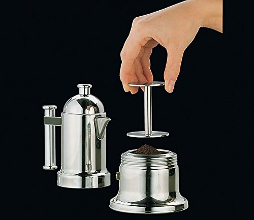 Cilio Premium Espresso Coffee Tamper Press Stamp Stainless Steel with Double Heads