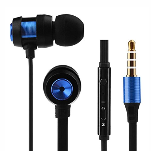 Dirance Wired in-Ear Stereo Super Bass Sport Earbuds Earphone Headphone for Cellphone Tablet Laptop (Blue)