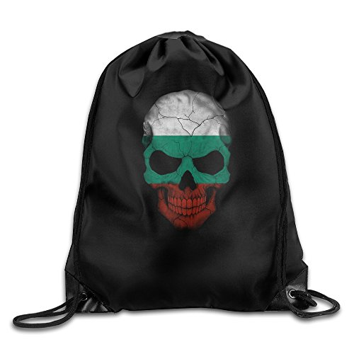Bulgaria Paper (Bulgaria Cool Skull Printing Sackpack Gym Backpack Bags Unique Stylish Drawstring Bag)