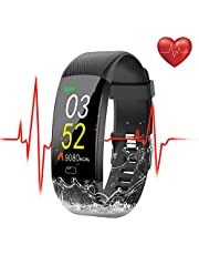 SEZAC [Waterproof IP68] Fitness Tracker Watch, Activity Tracker Watch Heart Rate Monitor Smartwatch Step Counter Tracking Pedometer Watch with HR Color Screen, Sleep Monitor for Women Mens kids