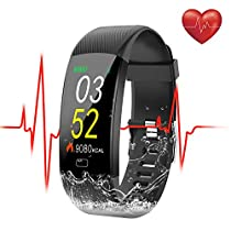 [WaterproofIP68] SEZAC Fitness Tracker Watch, Activity Tracker Watch Heart Rate Monitor Smartwatch Step Counter Tracking Pedometer Watch with HR Color Screen, Sleep Monitor for Women Mens Kids