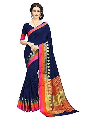 69322c06ad Soru Fashion Striped Kanjivaram Art Silk, Banarasi Silk, Jacquard Saree  (611_Dark Blue): Amazon.in: Clothing & Accessories