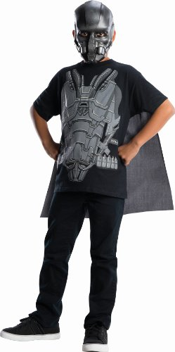 Zod Man Of Steel Costume (Man of Steel General Zod Costume Top with Cape Children's Costume, Large)