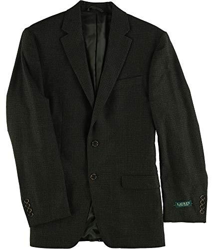 Ralph Lauren Mens Herringbone Two Button Blazer Jacket Brown ()