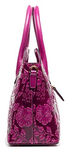 Handbag Shoulder Straw Summer Keshi Sea Tote Classic Purple Beach Leather Fashion Bag fzTx0wqRnF