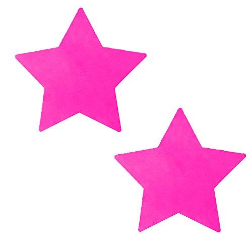 Starburst 12 Light (Neva Nude Blacklight Neon Pink Starburst Star Nipztix Pasties Nipple Covers)