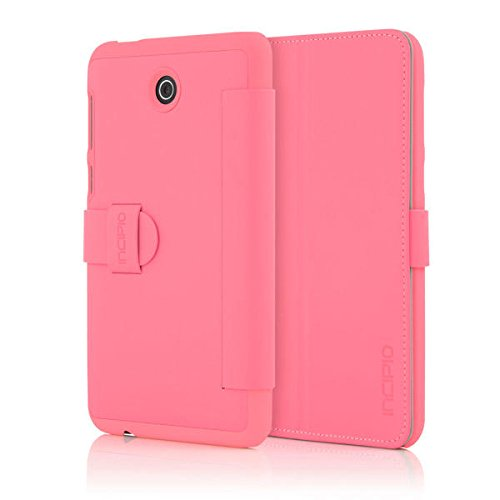 Asus MEMO PAD 7 LTEケースIncipio [ハードシェル] [ Folio Case ] Lexingtonケースfor Asusメモパッド7 lte- AS-208-BLK B01AOC8OP6 ピンク  ピンク