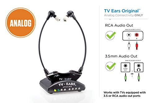 Tv Ears Headphones Speakers - TV Ears Original Wireless Headsets System, TV Hearing Aid Devices works best with Analog TV's, Hearing Assistance, TV Listening Headphones for Seniors and Hard of Hearing. Voice Clarifying, Doctor Recommended - 11641