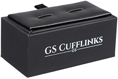 GS CUFFLINKS Boutons de Manchette en Cachemire Noirs pr/ésent/és dans Une bo/îte
