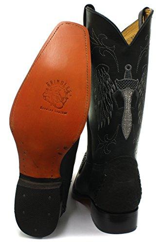 Miesten Cowboy Koko 7 Nahka Western Myllyt Kansas Musta Saappaat Uk fqWvxEXwgn