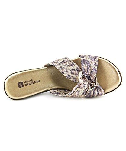 White Mountain - Sandalias de vestir para mujer Bronze E-Print
