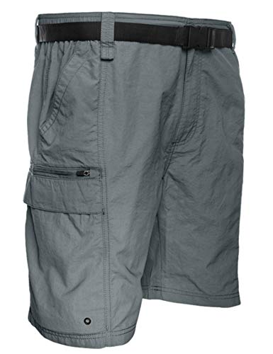 Coleman Men's Outdoor Hiking Nylon Cargo Shorts (XX-Large, Ironstone)