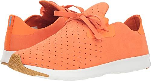 Native Shoes Apollo Moc Sneaker, Sunset Orange/Shell White/Natural Rubber, 8.5 Men