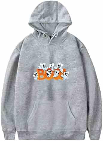 Men Hoodies Autumn Halloween Printed Long Sleeve Sweatshirts Casual Loose Pullover Tops with Pockets