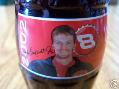 2002 Dale Earnhardt Jr With Beard #8 Coca Cola Full Unopened Bottle 8 Oz