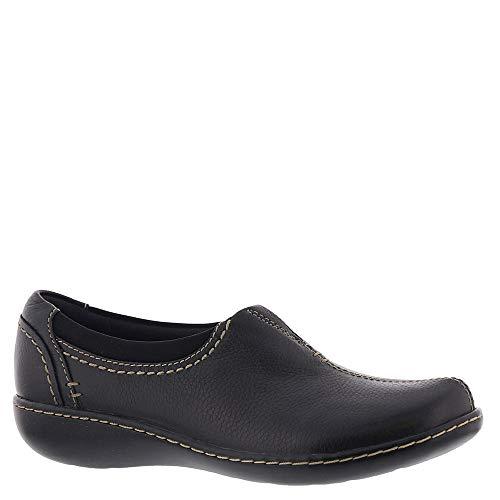 CLARKS Women's Ashland Joy Shoe, Black Leather, 85 N US