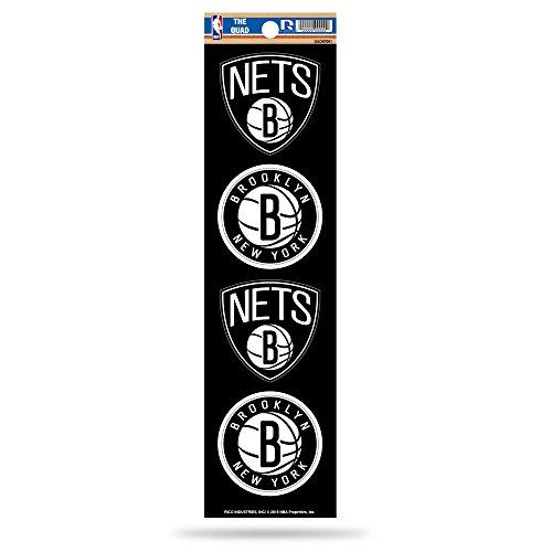 Rico NBA Brooklyn Nets Die Cut 4-Piece The Quad Sticker Sheet by Rico