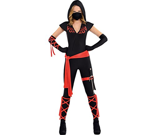 AMSCAN Dragon Fighter Ninja Costume for Women, Large, with Included Accessories