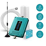 5-Band Cell Phone Signal Booster for Home and Office with Automatic Gain Control Features - Support All US Carriers GSM 3G 4G LTE - Easy to Install